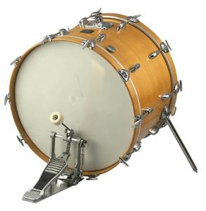 El bombo es una de las partes más importantes de la batería el instrumento musical.