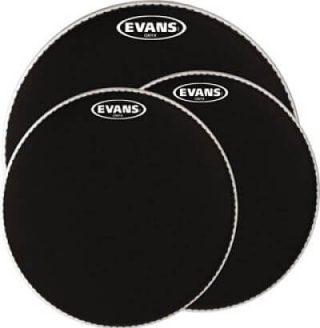 Parches para tambor evans color negro.