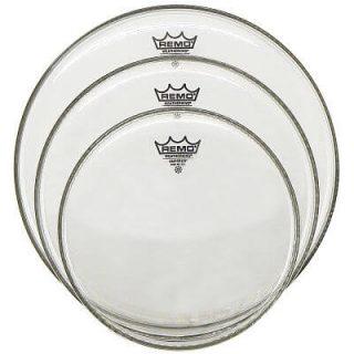 Set de Parches para batería marca Remo Emperor, color blanco.