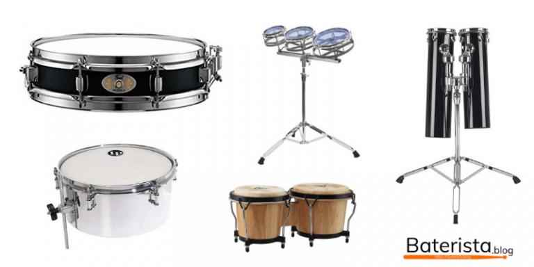 Otros tambores musicales que aaacompañan al set de batería.