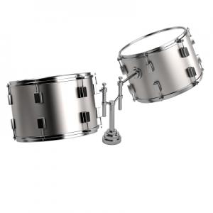 La batería el instrumento musical tiene por lo general 2 tambores tom toms.